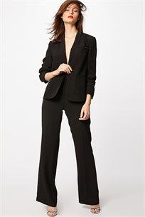 מכנסיים אלגנטיות בגזרה מתרחבת לנשים MORGAN 182-PHILO.F בצבע שחור