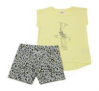 סט חולצה ומכנס Minene לבנות - צהוב