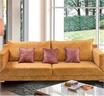 ספה תלת מושבית מבד LEONARDO עם שלדת עץ מלא במגוון צבעים לבחירה