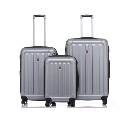 סט 3 מזוודות קשיחות בגדלים שונים SWISS ALPS