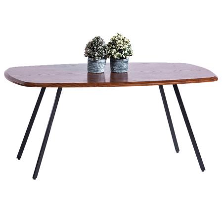 שולחן קפה לסלון עם פלטה בצבע אגוז