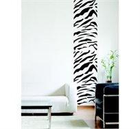 מדבקת קיר - סטריפ זברה, יוצרת פס רציף של דוגמא לאורך או רוחב הקיר