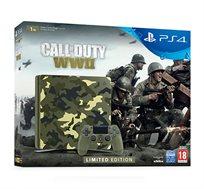 קונסולה Playstation 4 דגם SLIM בנפח 1TB במהדורה מוגבלת של CALL OF DUTY WWII + סטנד מתנה