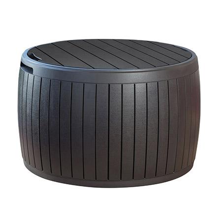 שולחן עגול להגשה ואירוח משמש גם לאחסון סירקה כתר