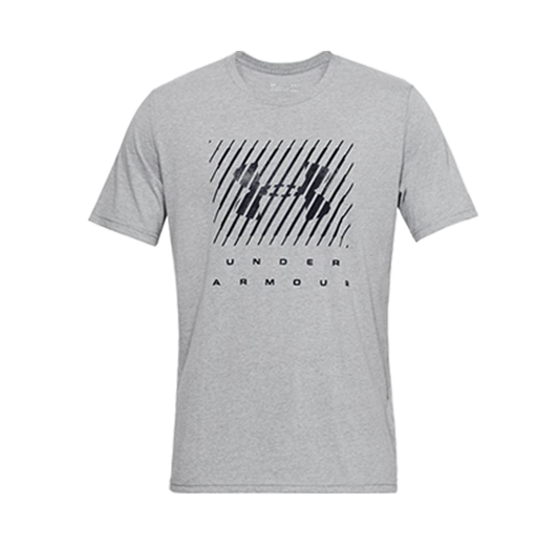 חולצת טישרט לגברים Under Armour SS19 UA BRANDED BIG LOGO SS - אפור