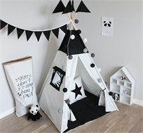 אוהל טיפי לילדים עשוי 100% קנבס