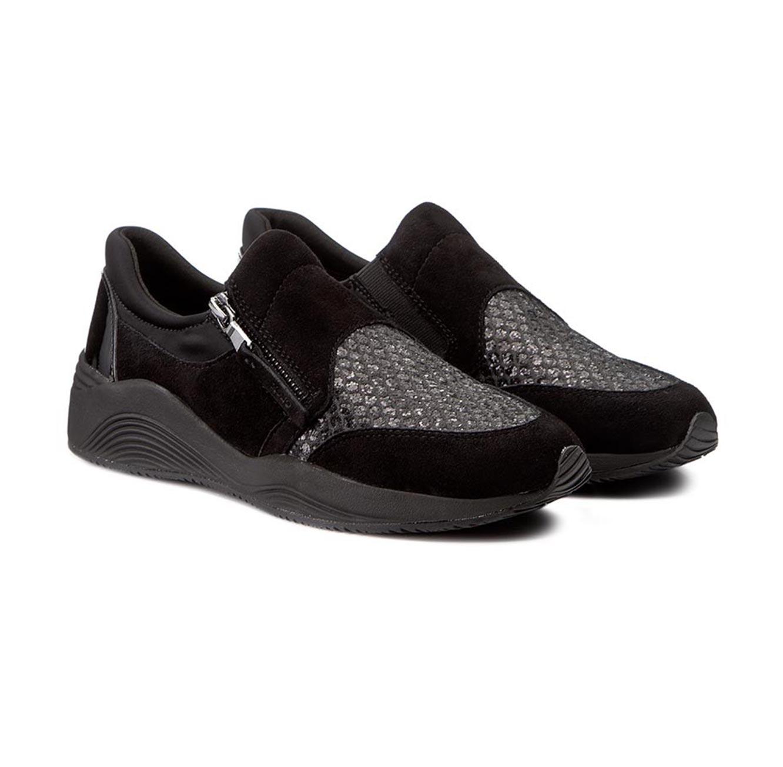 נעלי סניקרס GEOX לנשים D OMAYA A - PR. BUFFALO+SUEDE - צבע לבחירה