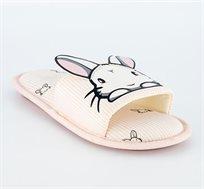 נעלי בית ארנבונים Delta - ורוד בהיר