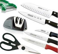 מארז 8 חלקים לחיתוך ARCOS הכולל סכינים, משחיז, קולפן ומספריים