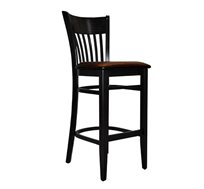 כיסא בר קלאסי מעץ למטבח עם ריפוד במושב במבחר צבעים לבחירה