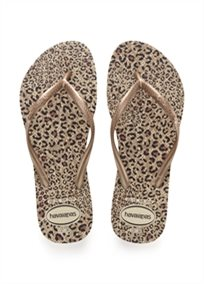 HAVAIANAS נשים // SLIM ANIMALS BEIGE/ROSE