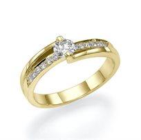 """טבעת אירוסין """"ליאן"""" 0.41 קראט ייחודית ונוצצת"""