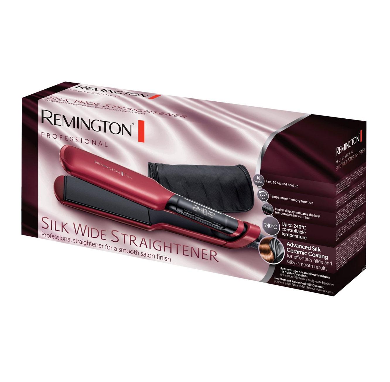 מחליק שיער קרמי silk wide בשילוב משי לתוצאות חלקות ומראה שיער מלא ברק Remington דגם S9620 - משלוח חינם - תמונה 2