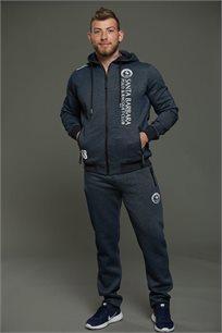 חליפה ספורטיבית עם קפוצ'ון לגברים בשני צבעים לבחירה