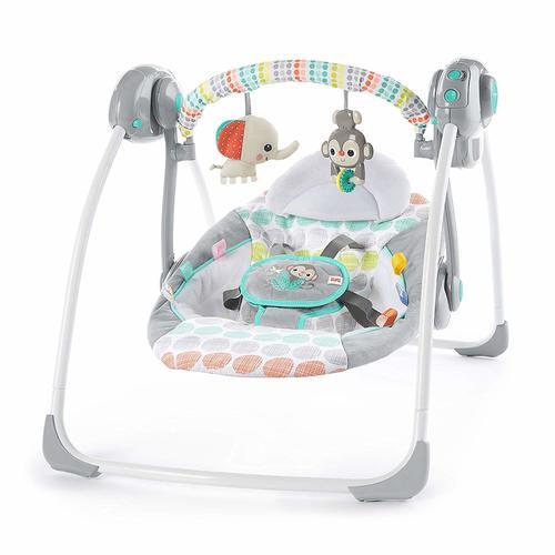 נדנדה חשמלית מתקפלת לתינוק עם חיישן משקל ומצבי שכיבה - חיות מוזיקאליות