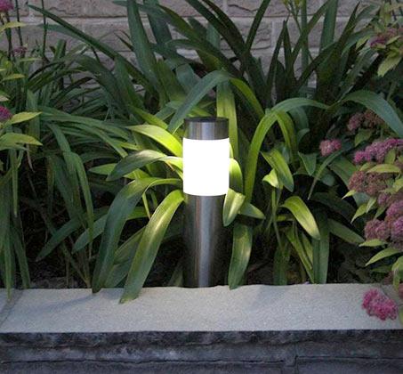 סט 5 פנסי LED סולארים גדולים מנירוסטה