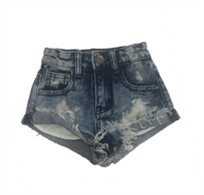 Oro/ שורט ג'ינס (16-2 שנים) - כחול כהה קרעים