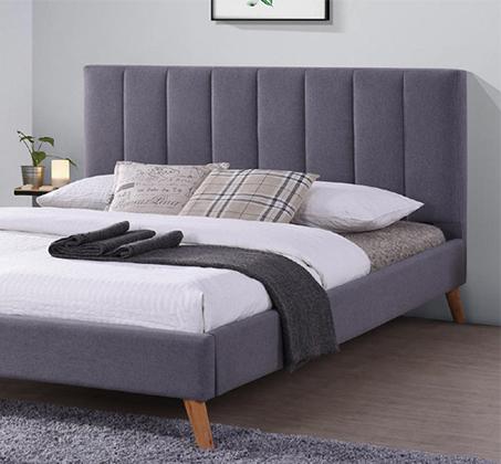 מיטה זוגית בגודל 140x190 מרופדת בד רך ונעים בכל חלקי המיטה דגם לימה HOME DECOR - תמונה 2