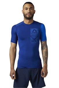חולצת אימון לגבר REEBOK עם טכנולוגית ה-ACTIVCHILL בצבע כחול