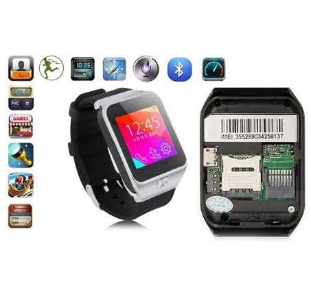 שעון יד חכם עם טלפון סלולרי GSM SIM, מצלמה צבעונית ועברית מלאה, שיחות ישירות, נגן MP4 - משלוח חינם - תמונה 2