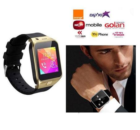 שעון יד חכם עם טלפון סלולרי GSM SIM, מצלמה צבעונית ועברית מלאה, שיחות ישירות, נגן MP4 - משלוח חינם - תמונה 3