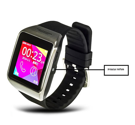שעון יד חכם עם טלפון סלולרי GSM SIM, מצלמה צבעונית ועברית מלאה, שיחות ישירות, נגן MP4 - משלוח חינם - תמונה 4