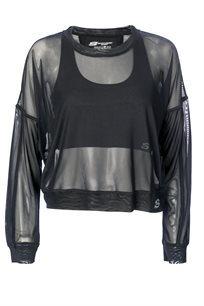 חולצה סקצ'רס שחורה לנשים