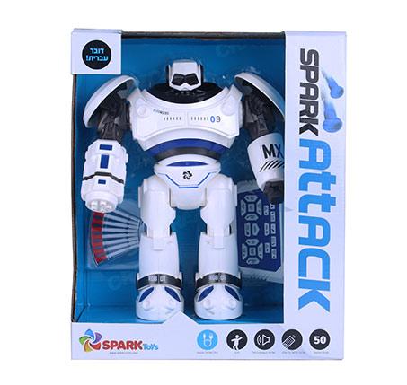 ספרק ווריור רובוט על שלט דובר עברית