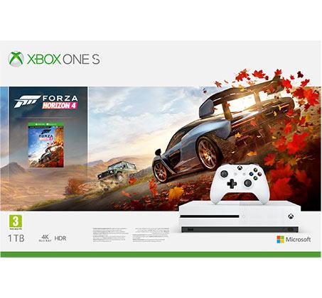 קונסולה  Microsoft Xbox One S נפח 1TB+ משחק Forza Horizon 4 יבואן רשמי