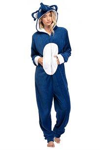 פיג'מת וונזי PILPEL לנשים דגם פילפילון בצבע כחול