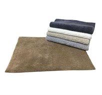 """שטיח אמבט מור 45X75 ס""""מ נגד החלקה 100% כותנה במגוון צבעים לבחירה"""