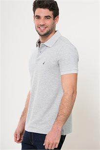חולצת פולו לגברים - אפור בהיר
