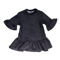 ORO שמלה(14-2 שנים) -  ברקים אפור בהיר