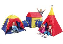 אוהל מבוך לילדים הבנוי מחמישה שלבים