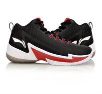 נעלי כדורסל מקצועיות לגברים Li Ning C.J. McCollum Power 4 Mid בצבעי שחור/אדום