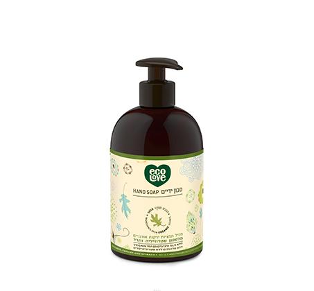 """סבון ידיים טבעי תמציות אורגניות מירקות ירוקים 500 מ""""ל"""
