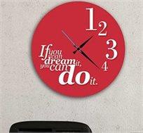 שעון עץ מודרני לבית עם כיתוב אם אתה יכול לחלום את זה אתה יכול לעשות את זה.