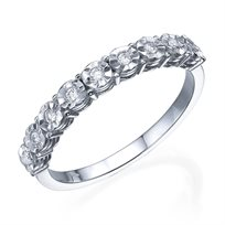טבעת יהלום 0.09 קראט זהב לבן