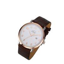 שעון יד מבית המותג ADI- המשלב עיצוב של פלדת אל חלד מוזהבת ורוז גולד