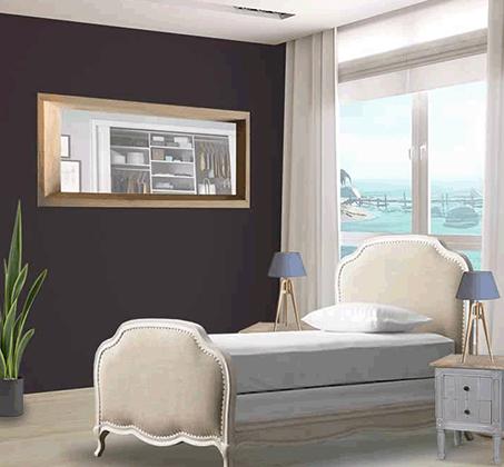 """מיטת נוער 90X120 ס""""מ מרופדת בבד פשתן בגוון טבעי דגם ואלרי ביתלי"""