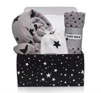 חבילת לידה כוכבים הכוללת נחשוש, שמיכת מילוי ושמיכת טטרה