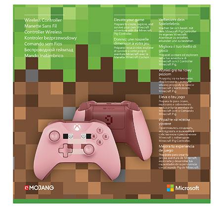 בקר אלחוטי מהדורת מיינקראפט Minecraft Pig לקונסולת XBOX - תמונה 8