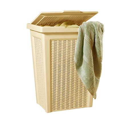 סל כביסה ראטן 50 ליטר מבית ״כתר״ פלסטיק - תמונה 3
