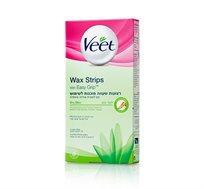 מארז 3 יחידות רצועות שעווה ויט לעור יבש מוכנות לשימוש Veet Wax strips