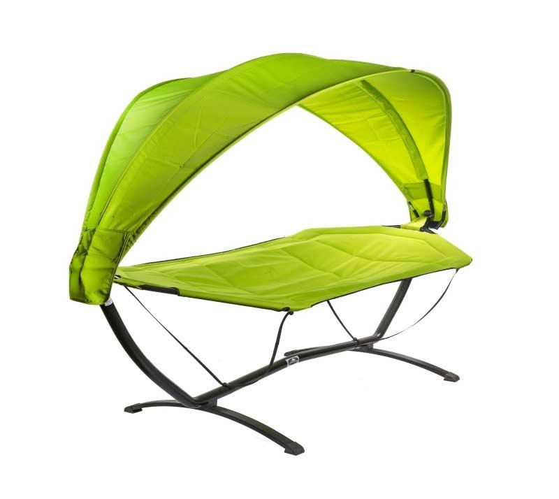 ערסל גינה יחיד עם סטנד וגגון בצבע ירוק דגם דאלאס AUSTRALIA CAMP - תמונה 3