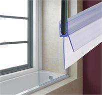 רצועת סיליקון בסיסית המתאימה לאמבטיות או לדלתות ומקלחונים, בעלת סנפיר ארוך למניעת נזילה