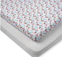זוג סדיני הלו קיטי למיטת תינוקות בדגמים לבחירה