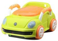 סיר גמילה מכונית חיפושית פולקסווגן עם מכסה ומגירת ריקון - ירוק