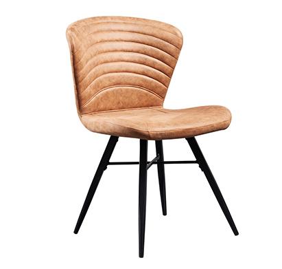 פינת אוכל נפתחת מעץ דגם HAVANA הכוללת שולחן ו-6 כיסאות עץ בצבע חום מרופדות בד בסגנון וינטג' GAROX - תמונה 2