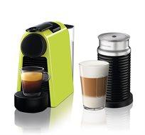 מכונת קפה Nespresso Essenza Mini בצבע ירוק דגם D30 כולל מקציף חלב ארוצ'ינו